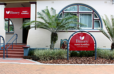 Binney Family Funerals conveniently located at 55 Magellan Street Lismore NSW.